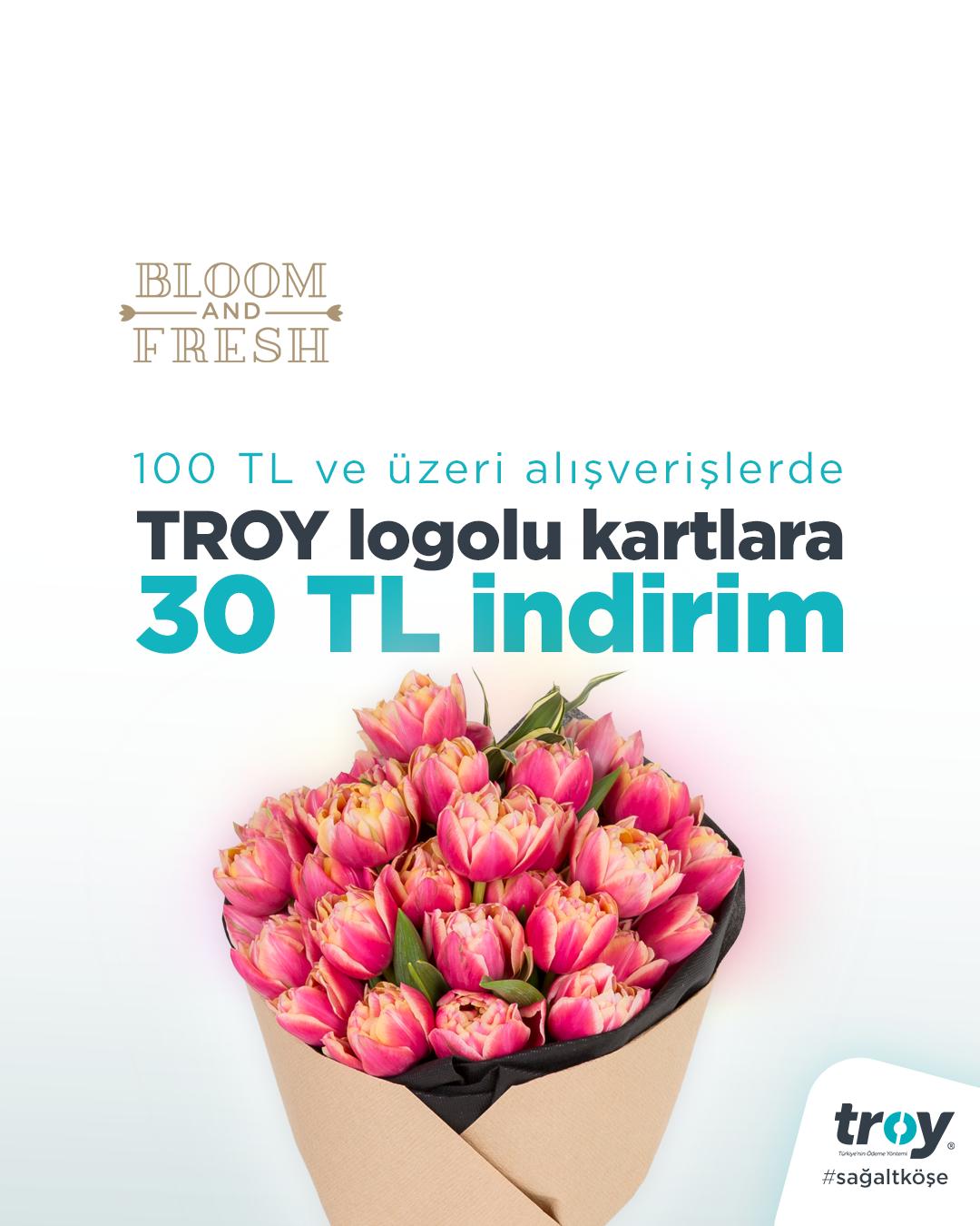 Troy Logolu Kartlara Indirim